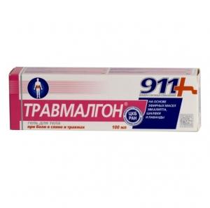 911 Serien. *Travmalgon* Kosmetik Gel-Balsam für Körper. 100ml.