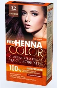Creme Haarfarbe FitoHenna Ton Aubergine 3.2