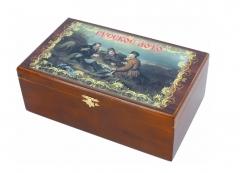 Russisches Loto in einer Geschenke Holzkiste