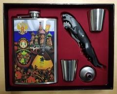 Trinker-Set: Flasche+2 Piles+Flaschenöffner (National Theme)